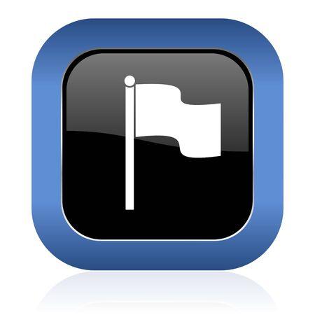 icon glossy: flag square glossy icon