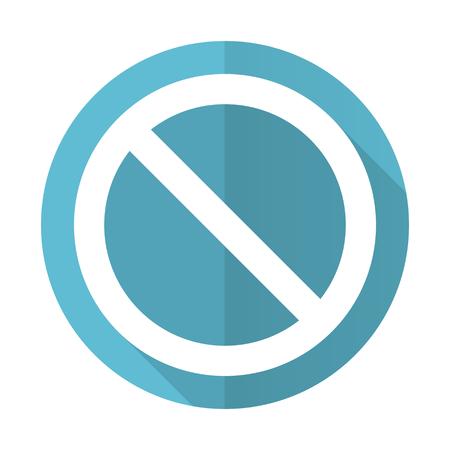 denied: access denied blue flat icon Stock Photo