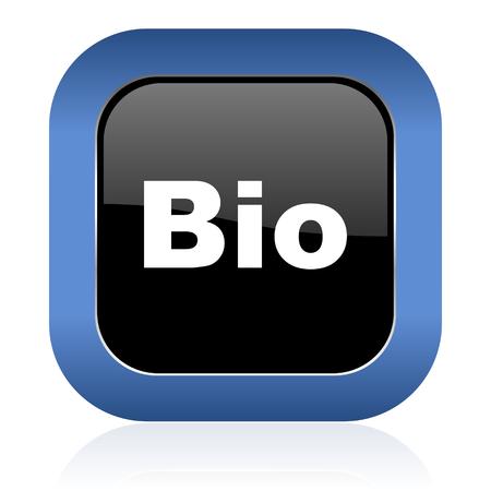 icon glossy: bio square glossy icon