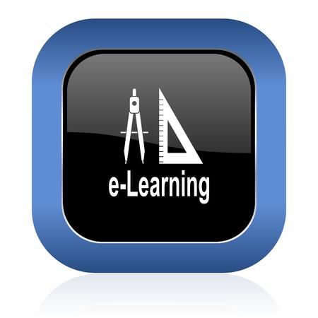 icon glossy: apprendimento icona quadrata lucido
