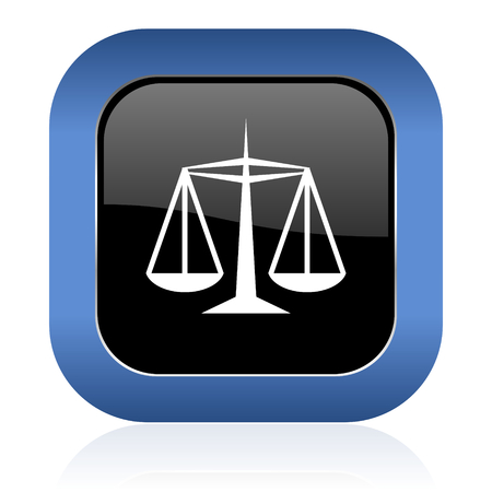 data protection act: justice square glossy icon law sign