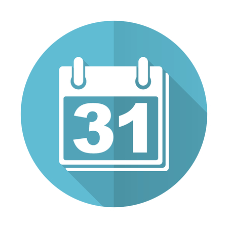 agenda year planner: calendar blue flat icon organizer sign agenda symbol