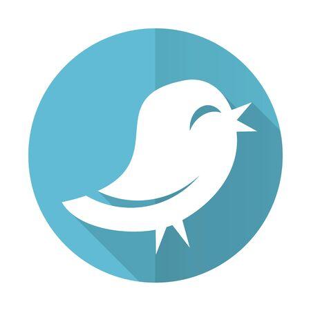 twitter blue flat icon photo