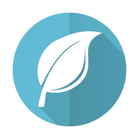 nature blue flat icon leaf sign photo