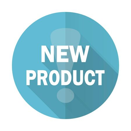 new product: new product blue flat icon