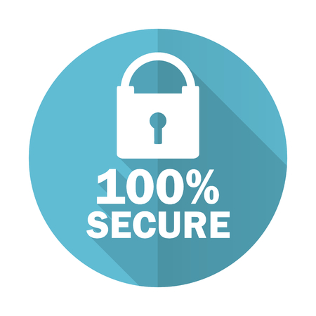 secure: secure blue flat icon