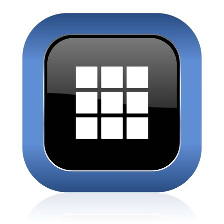 thumbnails: thumbnails grid square glossy icon gallery sign