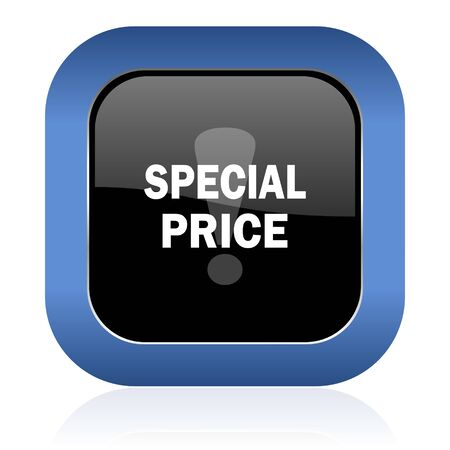 special price: special price square glossy icon Stock Photo