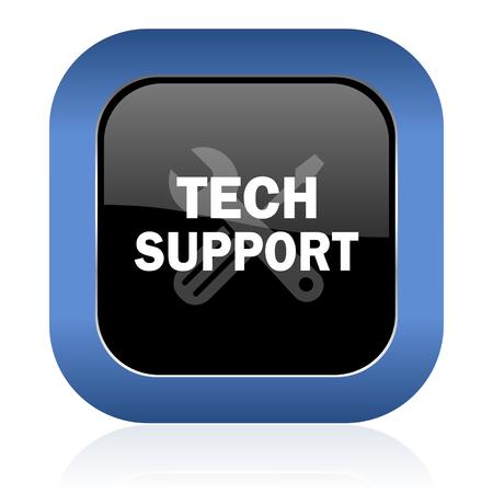 technical support: technical support square glossy icon