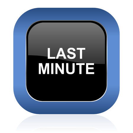 minute: last minute square glossy icon