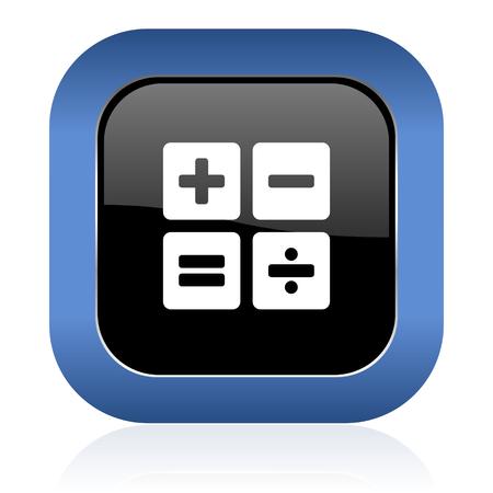 calc: calculator square glossy icon calc sign