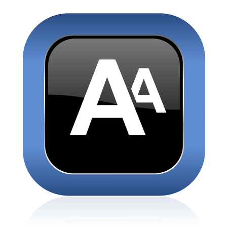 alphabet square glossy icon photo