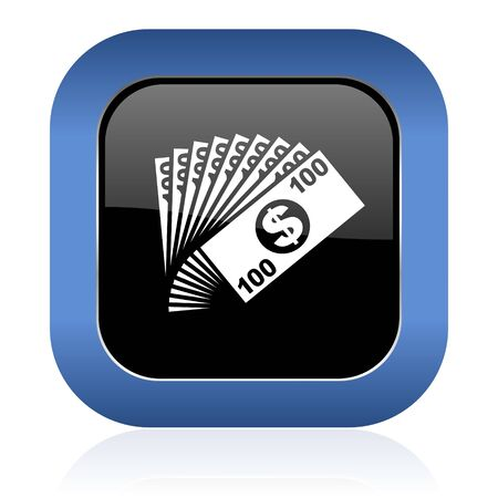 cash money: money square glossy icon cash symbol