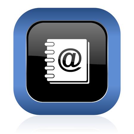 address book: address book square glossy icon
