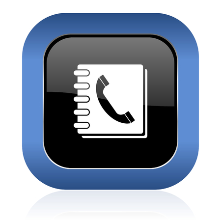 phonebook: phonebook square glossy icon