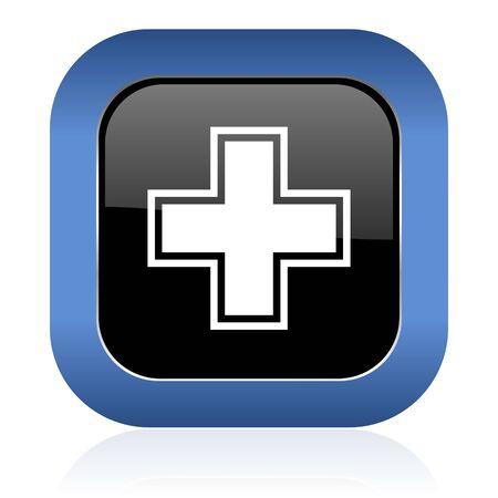 icon glossy: pharmacy square glossy icon