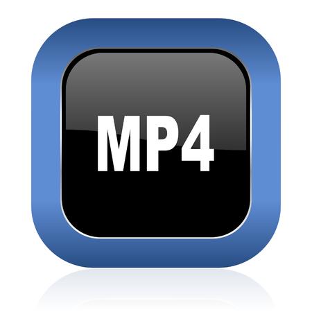 mp4: mp4 square glossy icon
