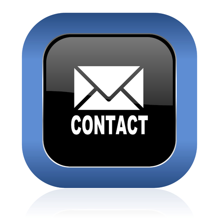 email contact: email square glossy icon contact sign Stock Photo