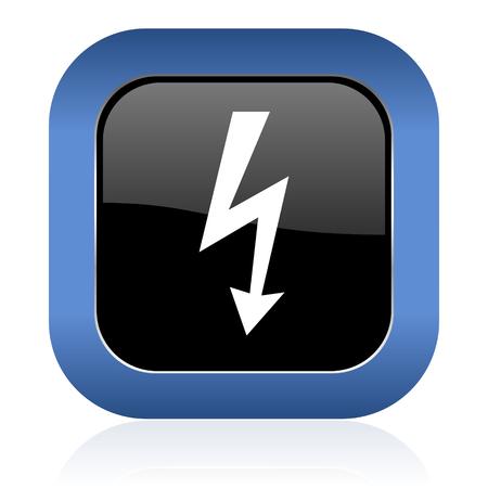 bolt square glossy icon flash sign photo