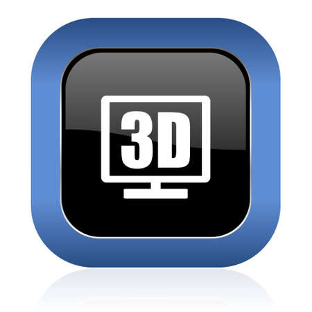 3d display square glossy icon photo