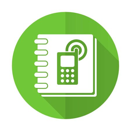 phonebook: phonebook green flat icon
