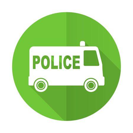 patrolman: police green flat icon