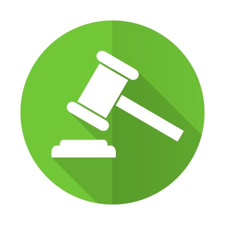 verdict: auction green flat icon court sign verdict symbol