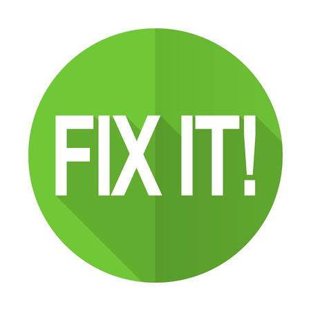 green it: fix it green flat icon