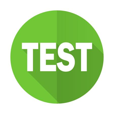 test probe: test green flat icon