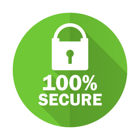 secure: secure green flat icon