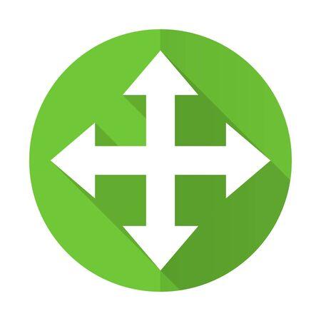sterring: arrow green flat icon Stock Photo