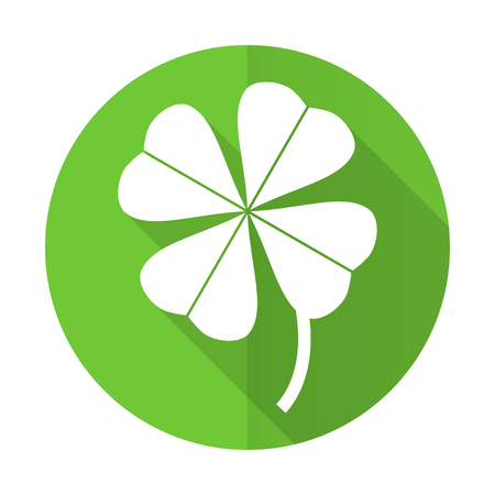fourleaf: four-leaf clover green flat icon