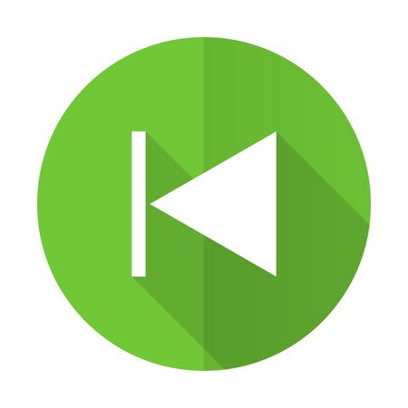 previous: previous green flat icon