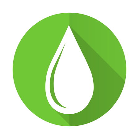 drinkable: water drop green flat icon