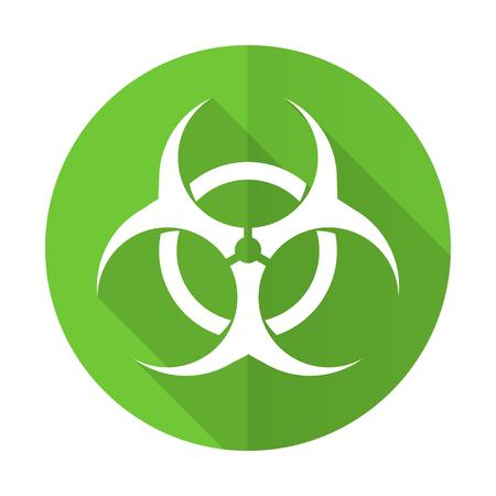 varez: biohazard green flat icon virus sign