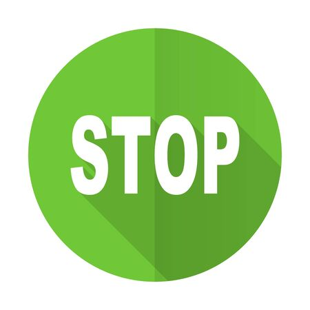 proscribed: stop green flat icon