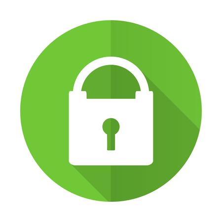 padlock icon: padlock green flat icon secure sign