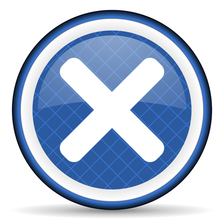 cancel blue icon x sign photo