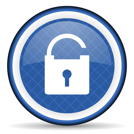 trusty: padlock blue icon secure sign