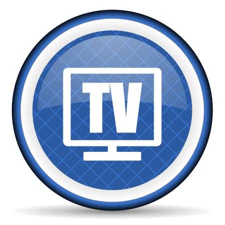 programm: tv blue icon television sign