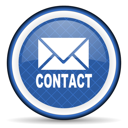 email contact: email blue icon contact sign Stock Photo