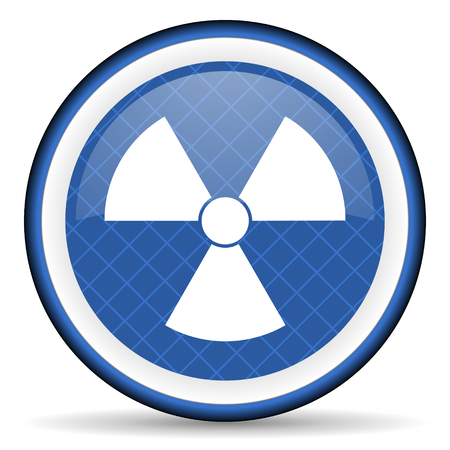 radiation blue icon atom sign photo