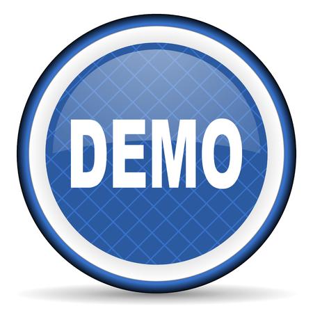 demo blue icon photo