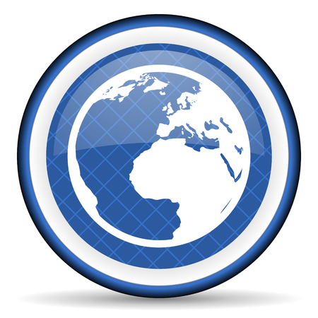 parallels: earth blue icon world sign