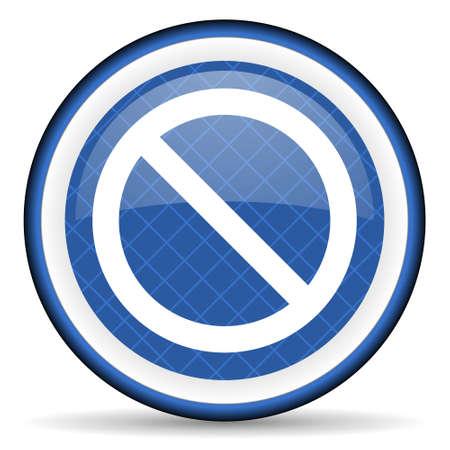 denied: access denied blue icon Stock Photo