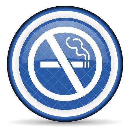 no smoking blue icon photo