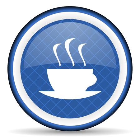 caffee: espresso blue icon hot cup of caffee sign