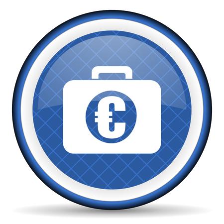 financial blue icon photo