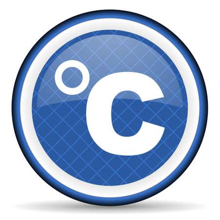 celcius: celsius blue icon temperature unit sign