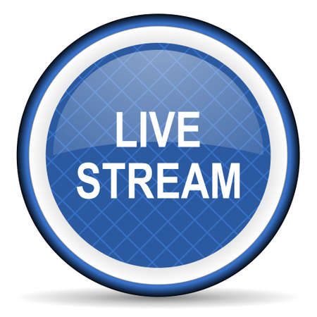 live stream: live stream blue icon